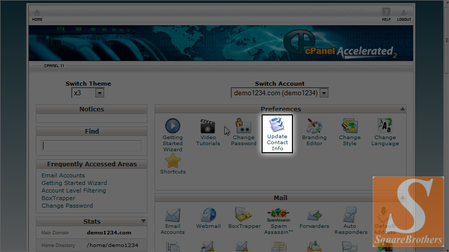 Cpanel Contact Info img 1